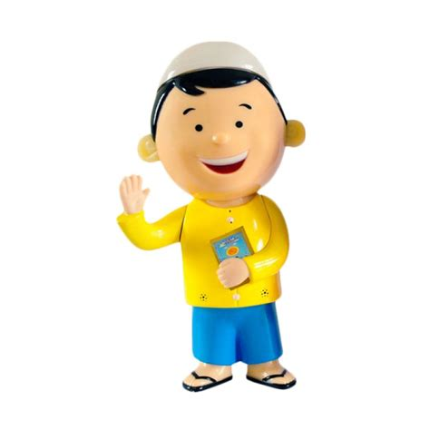 Mainan Anak Topeng Kuning jual alqolam hafiz talking doll kuning biru mainan anak harga kualitas terjamin