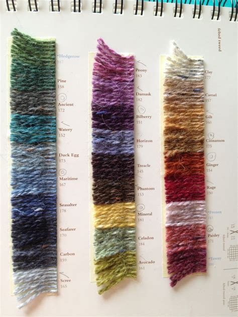 tweed color rowan felted tweed colour chart yarn yarn yarn