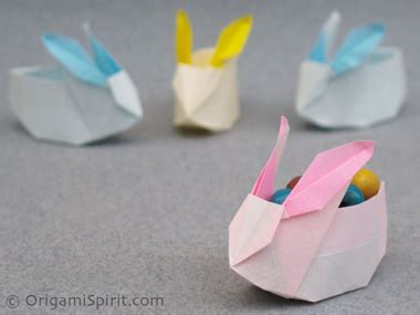 Easter Origami Bunny - easter paper craft 2011 picks paper kawaii