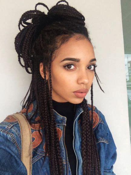box braids hairstyles for teens 1000 ideas about micro braids hairstyles on pinterest
