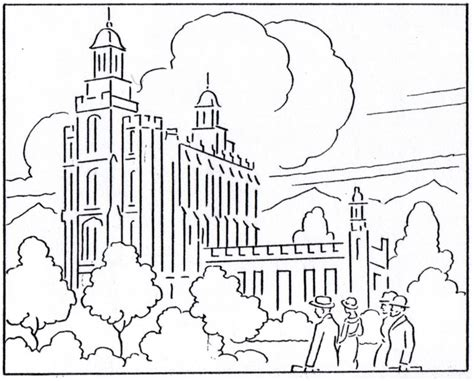 Salt Lake Temple Simple Coloring Pages Lds Temple Coloring Pages