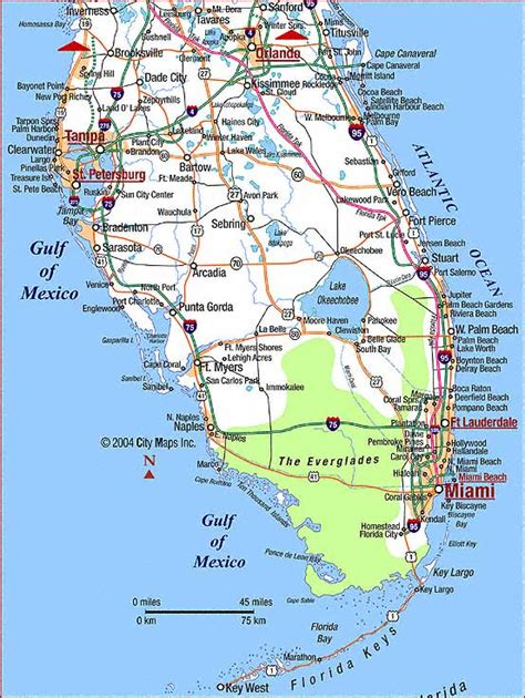 west coast map west coast map of florida highway map of southern florida aaccessmaps map of west
