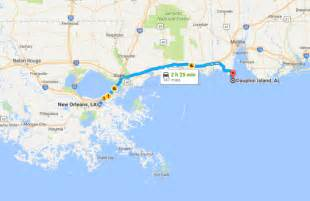 louisiana map beaches dauphin island is a with whitest sand near new orleans