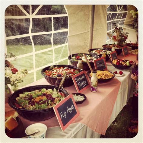 wedding shower buffet ideas wedding shower salad buffet chalkboard signs wegmans rustic wedding shower wedding ideas