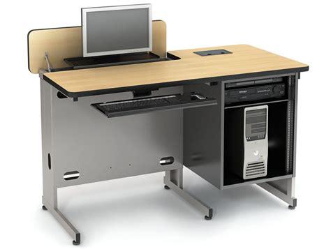 Unique Computer Desk hide away series classroom tables computer lab tables
