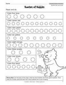 following directions worksheets for 1st grade 1