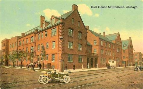 hull house chicago postcard chicago hull house settlement note man with