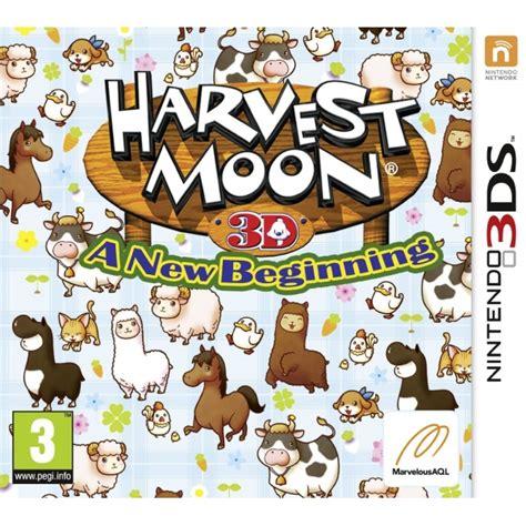 Kaset Harvest Moon 3d A New Beginning 3ds harvest moon a new beginning 3ds nzgameshop