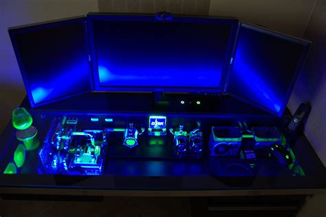 Gaming Pc In Desk by This Custom Built Computer Desk Will Make Your Pc