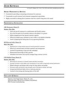 hostess description for resume slebusinessresume