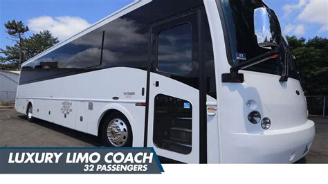 Coach Limo Service by Luxury 32 Passenger Limo Coach