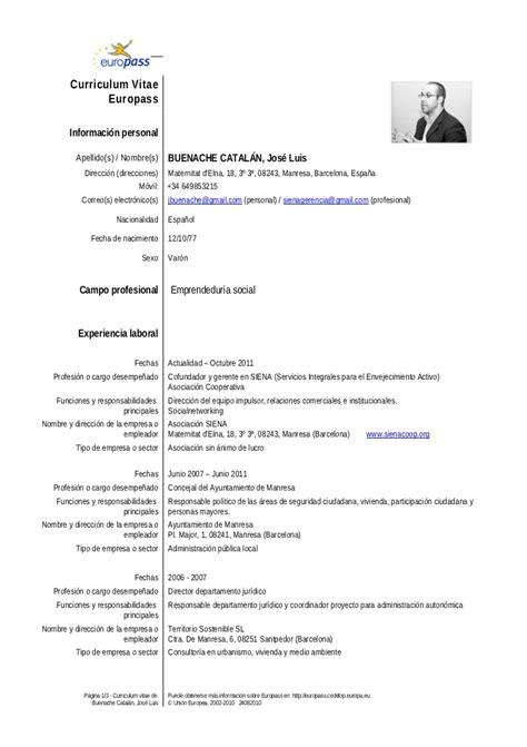 Modelo Curriculum Vitae Modelo Europeo Modelo Europeu De Curriculum Modelo De Curriculum