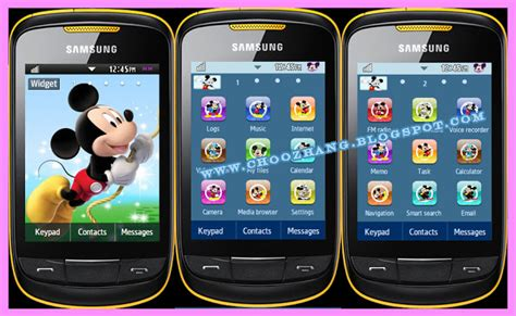 cute themes for samsung corby 2 choozhang corby cat samsung corby 2 or s3850 imickey