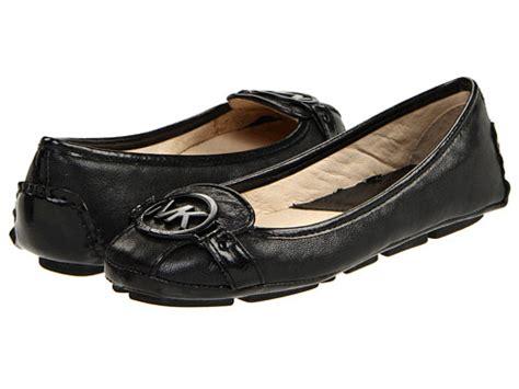 Mk Fulton Flats Black Shw michael kors fulton moccasin flats black leather black leather shoes review site