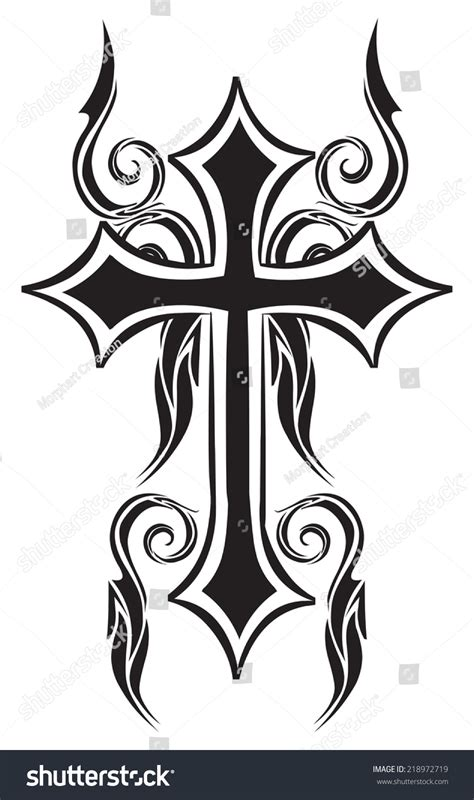 shutter tattoo designs design christian cross vintage engraved stock