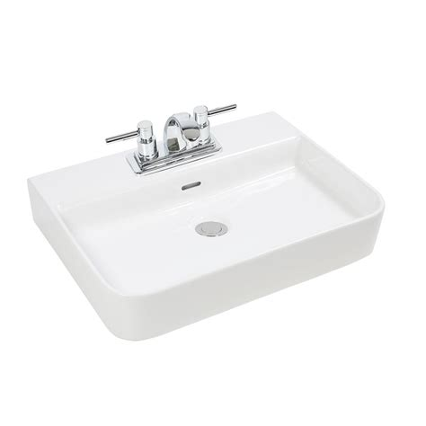 Glacier Bay Vessel Faucet by Glacier Bay Rectangular Vessel Sink The Home Depot Canada