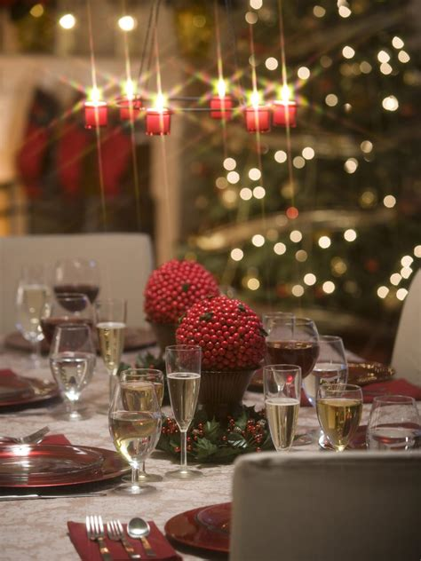 appealing christmas table decorations interesting dining make chandeliers and table settings sparkle hgtv