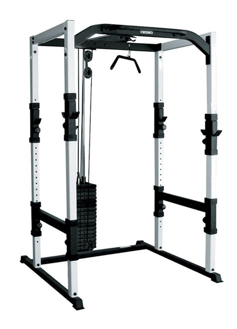 power cage bench press york fts power cage w hi low pulley 200lbs weight stack