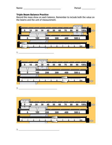 Measuring Mass Beam Balance Worksheet by Reading Beam Balance Worksheet Abitlikethis