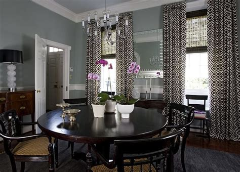 dr blue gray walls curtains decorating dining rooms david hicks and blue