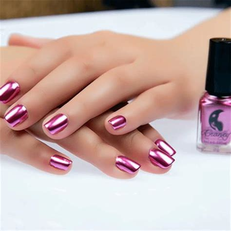 hospital nail color 1bottle red purple metallic nail polish 1bottle mirror