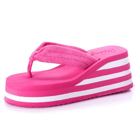 wearing slippers shoes open toe indoor wear home platform shoes
