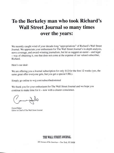 Wall Journal Letters To The Editor