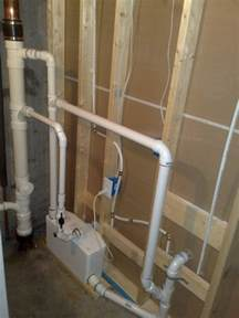 Venting Basement Plumbing - the saniflo macerating pump system