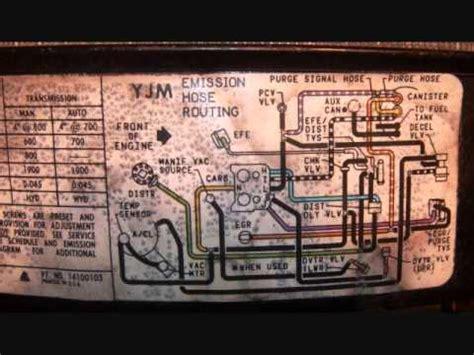 chevy  vacuum diagram youtube