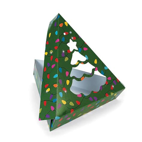 christmas tree shaped window cookie boxes oriental trading