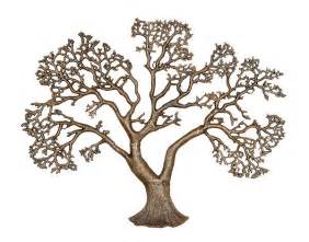 big tree of metal wall decor abstract home
