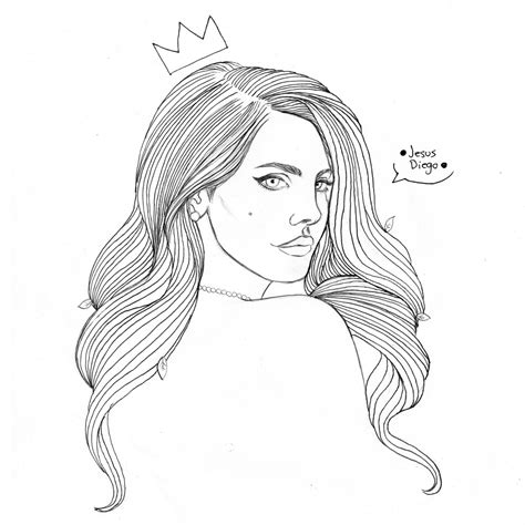 exciting image gallery of lana del rey coloring pages