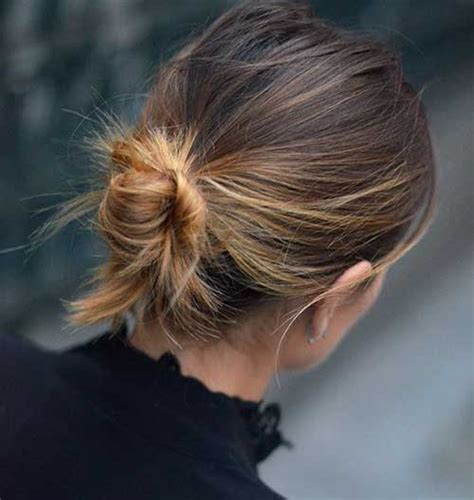 low bun with short hair trend stalk the low bun 23 photos 2018 hairstyle guru