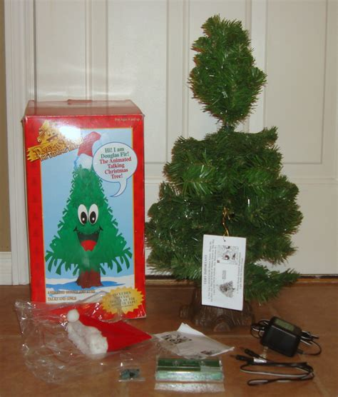 gemmy douglas fir the talking tree 24 quot animated singing