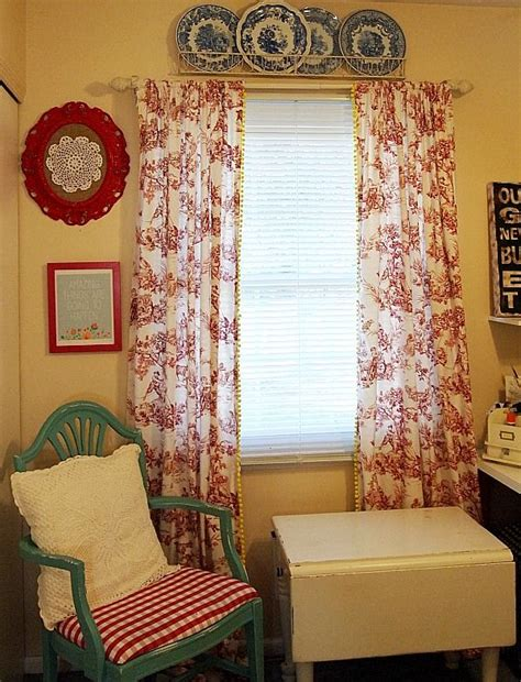 yellow toile curtains red toile curtains roselawnlutheran
