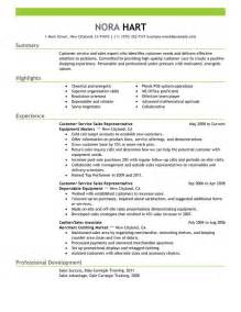 Resume Summary Exles For Customer Service Customer Support Resume Summary
