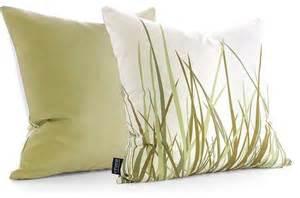 Modern Decorative Pillows Inhabit Grass Pillow Summer Grass Green Modern