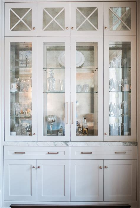 beautiful dining room storage  white gold