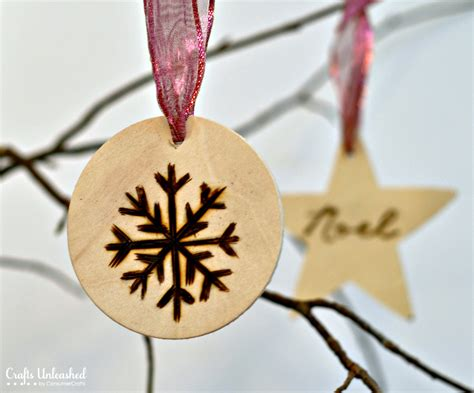 simple xmas wood ornaments wood burned ornament tutorial