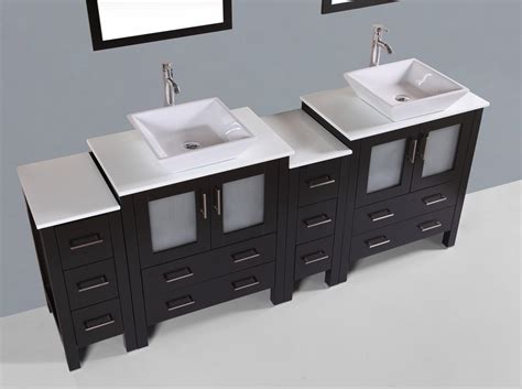 Contemporary 84 Inch Square Vessel Bathroom