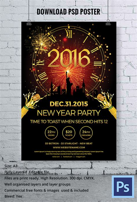 new year template psd sle new year poster templates 30 documents in pdf