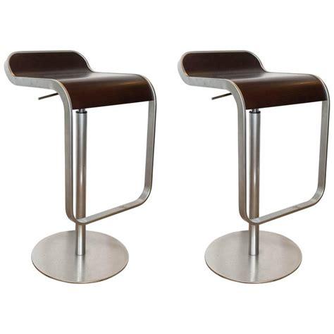 Lem Piston Stool La Palma by Pair Of Lem Piston Barstools In Walnut And Chrome For