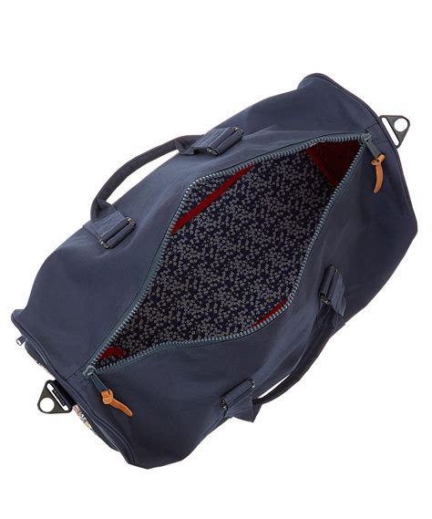 Valeria Bag Navy herschel supply co navy novel liberty print duffle bag in blue lyst