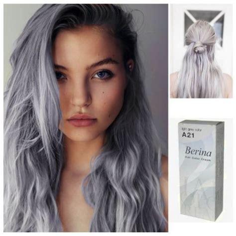 best non permanent hair color for grey hair gray punk a21 berina hair cream semi permanent hair dye