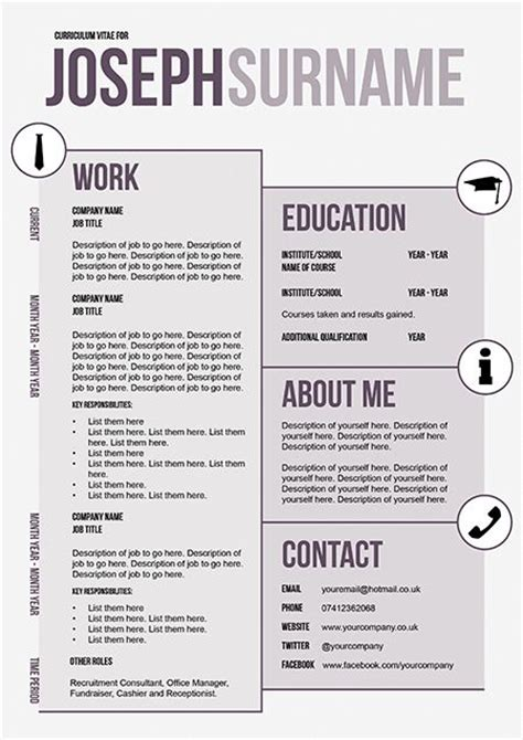 creative cv layout template 107 best images about some innovative cvs on pinterest