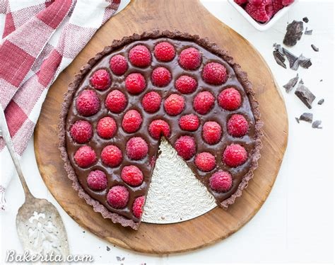 13 Ingredients And Directions Of Raspberry Chocolate Tart Receipt by No Bake Raspberry Chocolate Tart Gluten Free Paleo