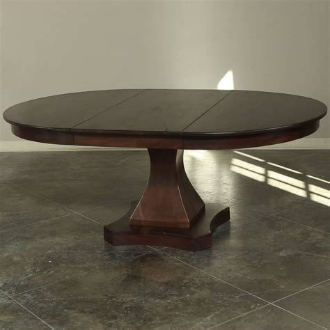 Pedestal Dining Table With Leaf 19th Century Mahogany Louis Philipe Pedestal Dining