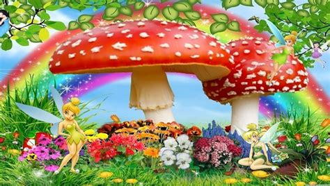 disney garden wallpaper download tinker bell mashroom garden dc 55 960 x 544