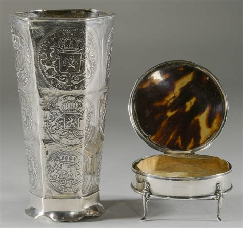 silver vase inc lot 898 10 silver items inc vase