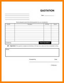 Doc Form Templates by Doc 650833 Quote Forms Template Free Quote Form